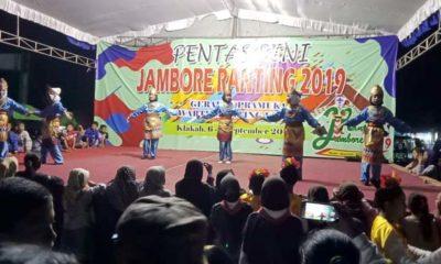 Pelajar se-Kecamatan Klakah Uji Bakat Seni Tari di Pentas Seni Jambore Ranting 2019