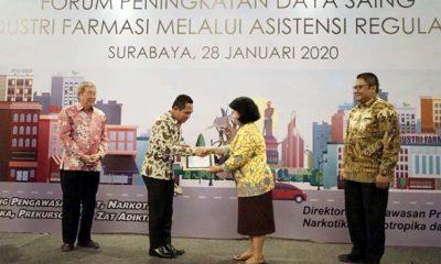 Bupati Lumajang Terima Penghargaan dari BPOM RI di Surabaya