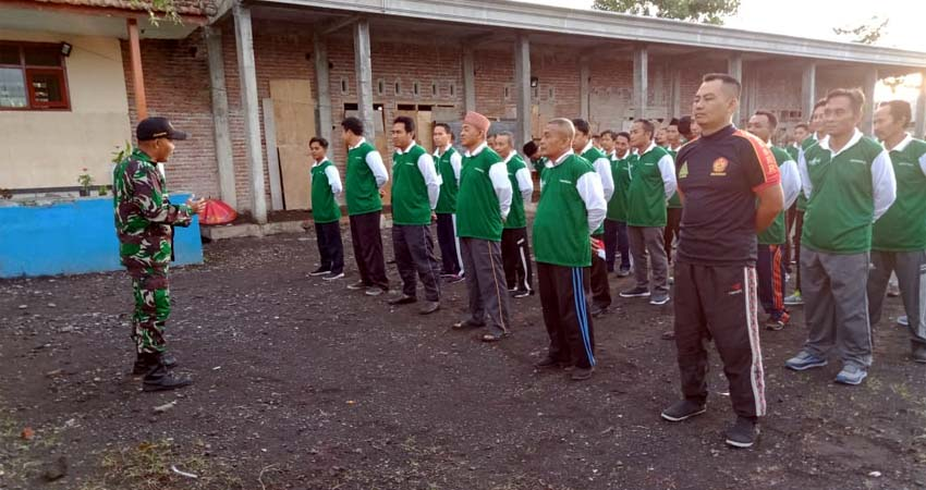 Kader NU Lumajang bersama TNI Siap Jaga Keutuhan NKRI