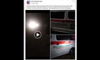Heboh..! Ambulance Lumajang Dikabarkan Bawa Sabu Tabrak Polisi di Sampang Madura