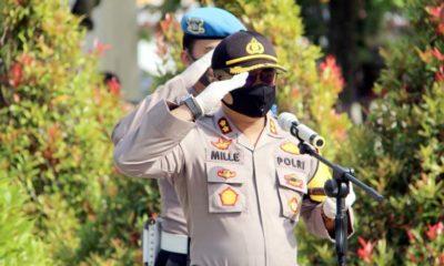 Hari Bhayangkara Polres Lumajang Ziarah Ke Makam Pahlawan Kusuma Bangsa