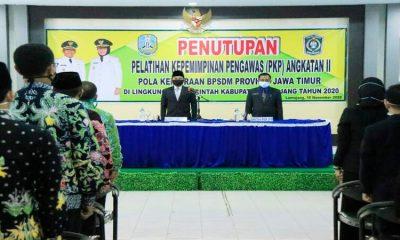 Bupati Lumajang, Thoriqul Haq, saat kegiatan penutupan pelatihan kepemimpinan pengawas (PKP).