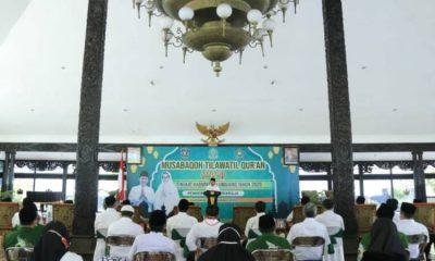 Pembukaan Lomba Musabaqah Tilawatil Quran (MTQ) Tingkat Kabupaten Lumajang di Pendopo Arya Wiraraja Lumajang.