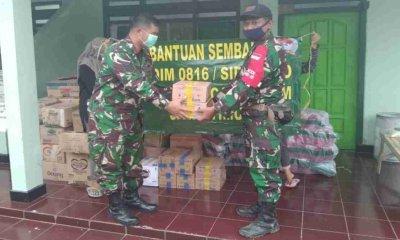 Kodam VBrawijaya Sampaikan Bantuan ke Masyarakat Terdampak Gempa